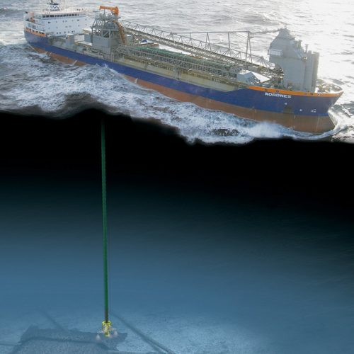offshore rock dumping installation supply via flexible fall pipe vessel