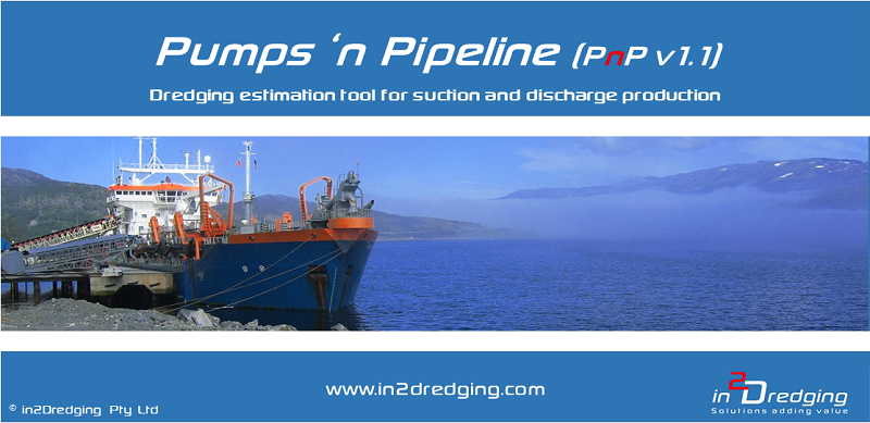 Pumps 'n Pipeline (PnP) Software package estimating suction and discharge production